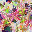 Seamless multicolor floral pattern — Stockvectorbeeld