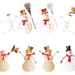 Snowman set — Stock Vector