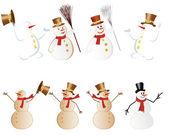 Snowman set — Stock Vector