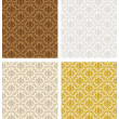 Vector de stock : Damask Seamless Color Set