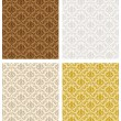 Damask Seamless Color Set — Stock vektor