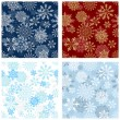 Seamless snowflakes background for winter and christmas theme. Vector illustration. — Stock Vector #14901991