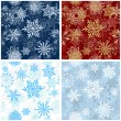 Seamless snowflakes background for winter and christmas theme. Vector illustration. — Stock Vector #14902001