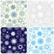 Stock Vector: Seamless snowflakes background for winter and christmas theme. Vector illustration.