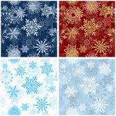 Kesintisiz kar taneleri için kış ve yılbaşı tema arka plan. vektör çizim. — Stok Vektör