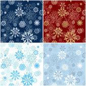 Seamless snowflakes background for winter and christmas theme. Vector illustration. — Stock Vector