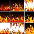 Fire Set - Stock Vector