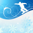 Snowboard background - Stock Vector