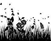 Vintage meadow background — Stock Vector