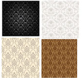 Damask color pattern set — Stock Vector