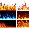 Fire set — Stock Vector