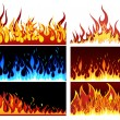 Royalty-Free Stock Vector Image: Fire set