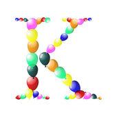 Balloon letter — Stock Vector