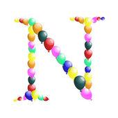 Balloon letter — Vector de stock