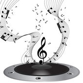 Musical note staff — Stockvector