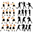 Boxing silhouette — Stock Vector