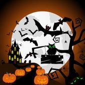 Happy halloween card — Stock Vector