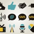 Office and communication icon set — Stock Vector