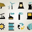 Electricity, power and energy icon set. — Stock Vector