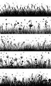 Meadow background — Stock Vector