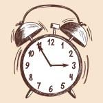 Alarm clock sketch — Stock Vector