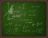 Blackboard with physical formulas — Vettoriale Stock
