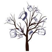 árbol de la escuela — Vector de stock