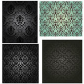 Damask seamless pattern set — Stok Vektör