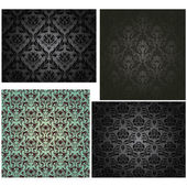Damask seamless pattern set — Stockvector