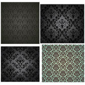 Damask seamless pattern set — Stock Vector