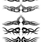 Set tribal tattoos — Stock Vector #50705217