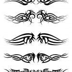 Set tribal tattoos — Stock Vector #50705231
