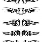 Set tribal tattoos — Stock Vector #50705265