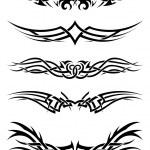 Set tribal tattoos — Stock Vector #50705275