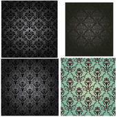 Damask seamless pattern set — Stock Vector