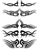 Set tribal tattoos — Stockvektor