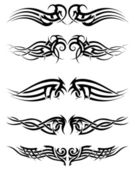 Set tribal tattoos — Stock Vector