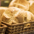 Baked bread in basket. series — Stock Photo #24029723