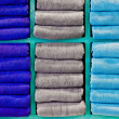 Colorful clean bath towels - Stock Photo