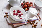 Heathy breakfast — Stock Photo