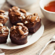 Black Forest Cupcakes with almonds — Stock Photo #24041051