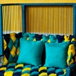 Stock Photo: Yellow and blue sofa