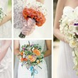 Foto Stock: Collage wedding bouquets