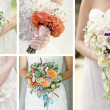 Stockfoto: Collage wedding bouquets
