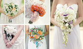 Collage wedding bouquets — Stock Photo