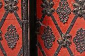 Vintage red door — Stock Photo