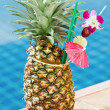 Tropical pineapple cocktail — Stock Photo