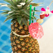 Stock Photo: Tropical pineapple cocktail