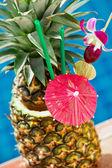 Tropikalny koktajl ananasowy — Zdjęcie stockowe