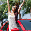 Summer vacation car road trip freedom concept. — Stock Photo